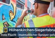 Höhenkirchen-Siegertsbrunn: Trotz Flucht - Mutmaßlicher Sprayer gefasst