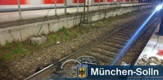 Fahrrad im Gleis - S-Bahn muss in Solln schnellbremsen