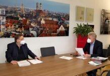 EURO2020: OB Reiter spricht mit DFB-Vizepräsident Koch