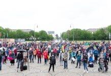 """Impressionen der Kundgebung """"Aufstehen für Kultur 2"""" auf dem Königsplatz München"""