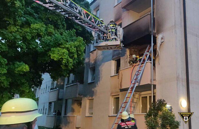 Fürstenried: Feuer auf Balkon