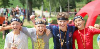 KidsCrossLauf 2021 am 18. Juli bei der Olympia Regattaanlage in Oberschleißheim