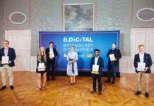 Gerlach verleiht Bayerischen Digitalpreis B.DiGiTAL an vier Sieger-Projekte aus München
