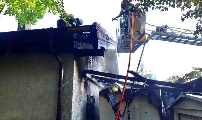 Freimann: Kühlzelle in Flammen aufgegangen