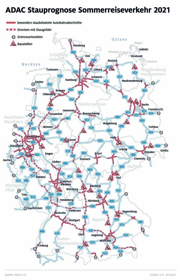 Auf diesen Autobahnabschnitten droht im Sommer 2021 Stau