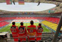 Großeinsatz des BRK beim Spiel in München verlief ohne Zwischenfälle
