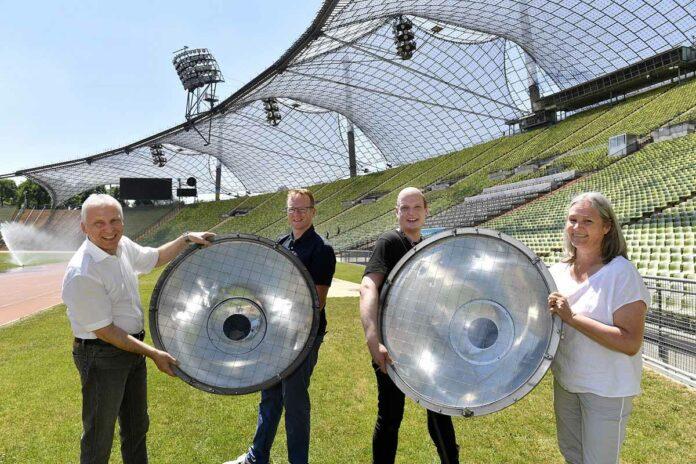 Ausgemusterte Olympiastadion-Strahler: Ein zweites Leben für die Kultur