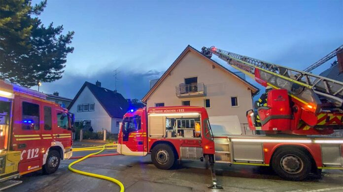 Hadern: Brand in Mehrfamilienhaus