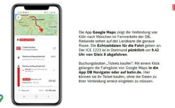 Google und DB zeigen Live-Auskünfte zu Zügen und vereinfachen Ticketbuchung