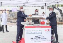 Grundstein für die neue München Klinik Harlaching ist gelegt