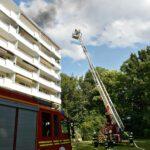 Dachterrassenbrand in Bogenhausen