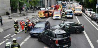 Maxvorstadt: Verkehrsunfall mit vier Verletzten