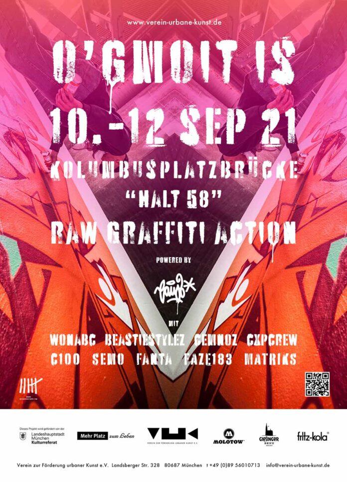 O'GMOIT IS - Ein Wochenende mit Raw Graffiti Action in Untergiesing