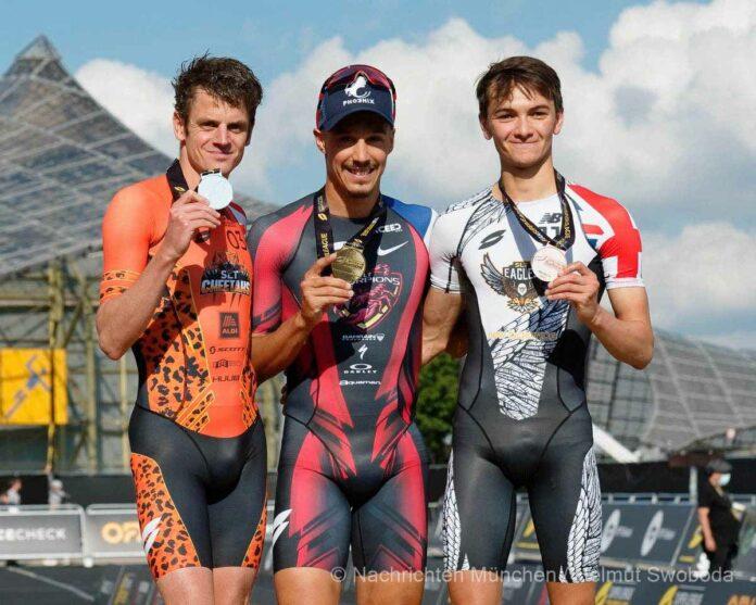 Internationale Triathlon-Elite kämpft beim allerersten deutschen Super League Triathlon im Münchner Olympiapark