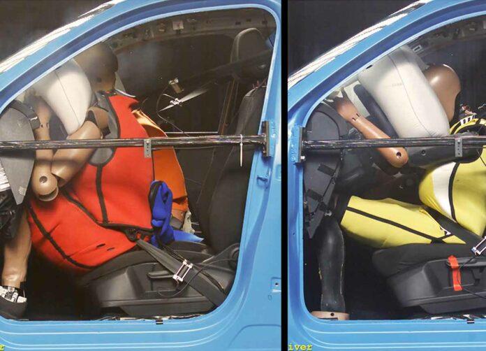 Airbag und Gurt: Erhöhtes Risiko für große und schwere Insassen