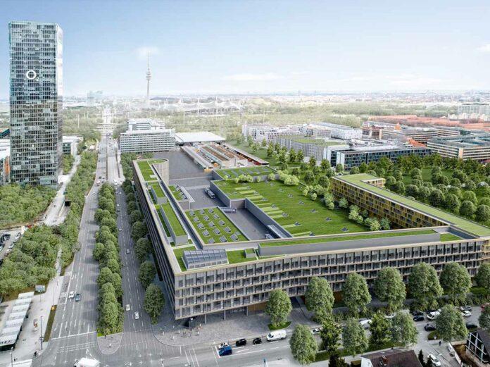 Hybrid.M: Großflächige Vermietung im Büro-Mantelgebäude in Moosach