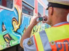 Grafitisprayer festgenommen - Gute Zusammenarbeit von Landes- und Bundespolizei