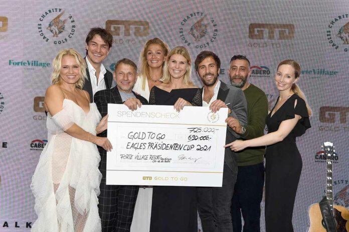 725.000 Euro für Herzensprojekte beim GOLD TO GO EAGLES PRÄSIDENTEN CUP 2021