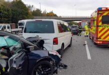 A99 Fahrtrichtung Salzburg: Auffahrunfall mit drei Fahrzeugen